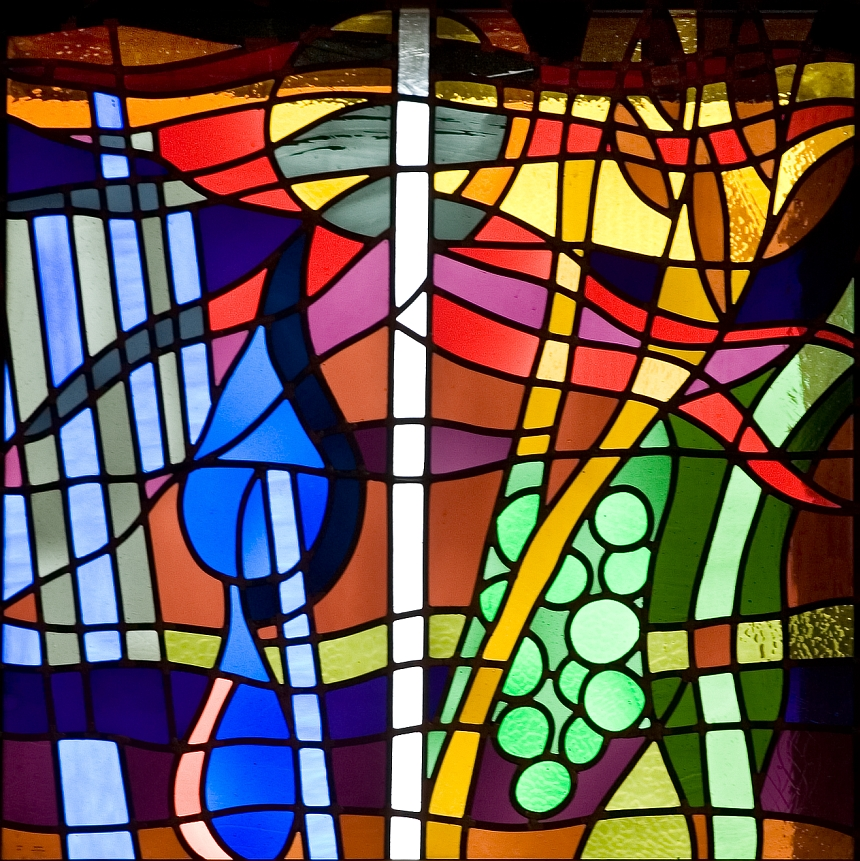 Richard Caemmerer stained glass window 1 of 2