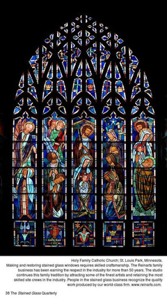 Holy Family Catholic Church in St. Louis Park, MN stained glass window PDF