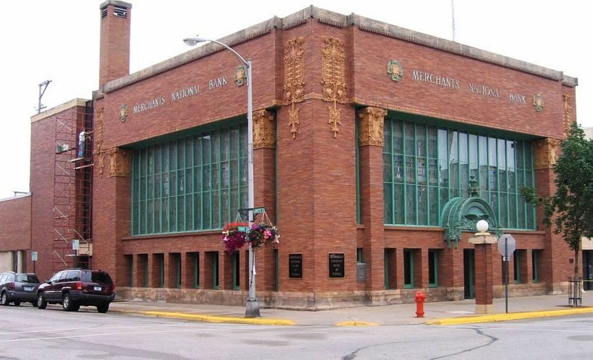 Merchants National Bank Winona Mn Reinarts Stained Gl