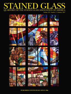 St Raphael Cover for Stained Glass Quarterly Magazine